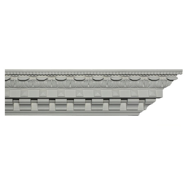 "4-3/4""(H) x 5-1/2""(Proj.) - Repeat: 4-3/4"" - English Style Crown Molding Design - [Plaster Material] - Brockwell Incorporated"