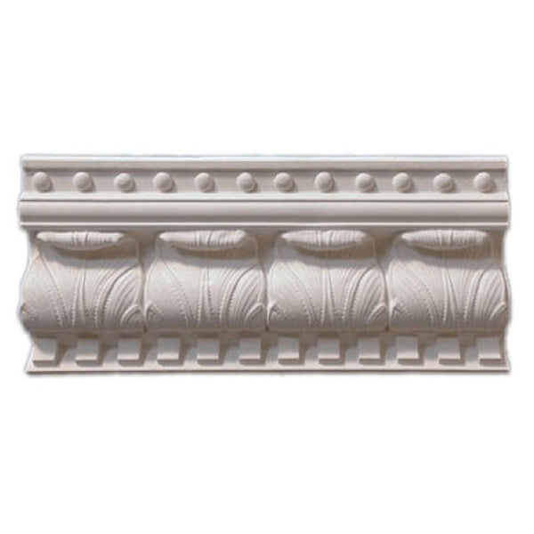 "6""(H) x 6""(Proj.) - Repeat: 4-3/4"" - English Crown Molding Design - [Plaster Material] - Brockwell Incorporated"