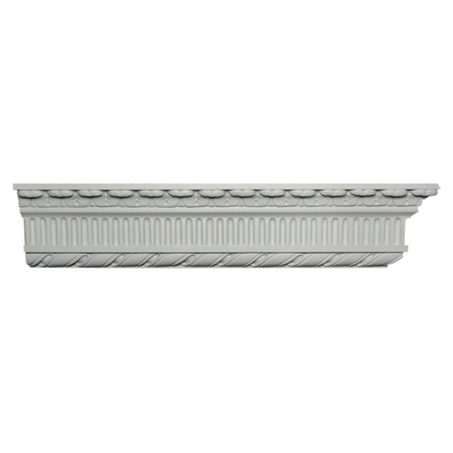 "6-7/8""(H) x 3-1/4""(Proj.) - Repeat: 3"" - Georgian Style Crown Molding Design - [Plaster Material] - Brockwell Incorporated"