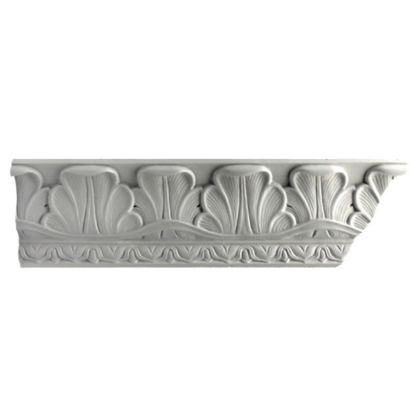 "3-3/4""(H) x 3-1/2""(Proj.) - Repeat: 3-3/4"" - French Style Crown Molding Design - [Plaster Material] - Brockwell Incorporated"