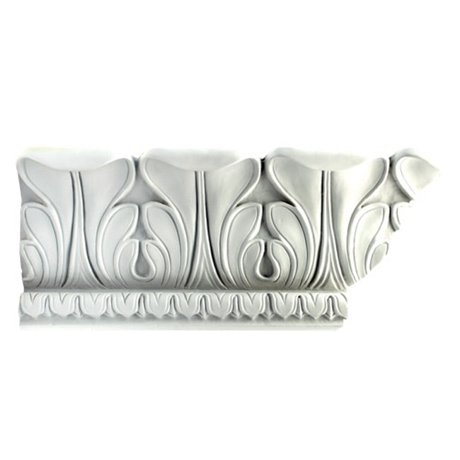"5-1/2""(H) x 5-1/2""(Proj.) - Repeat: 5"" - French Style Crown Molding Design - [Plaster Material] - Brockwell Incorporated"
