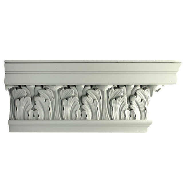 "6-3/4""(H) x 4""(Proj.) - Repeat: 5-1/4"" - Georgian Style Crown Molding Design - [Plaster Material] - Brockwell Incorporated"
