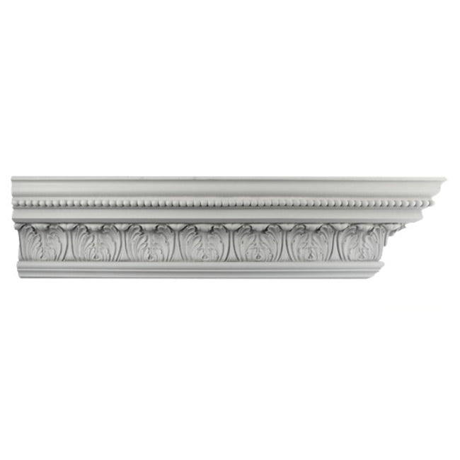 "4-3/4""(H) x 4""(Proj.) - Repeat: 3-1/4"" - Georgian Crown Molding Design - [Plaster Material] - Brockwell Incorporated"