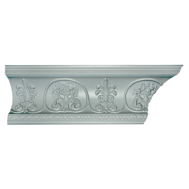 "7-1/2""(H) x 7-3/4""(Proj.) - Louis XVI Style Crown Molding Design - [Plaster Material] - Brockwell Incorporated"