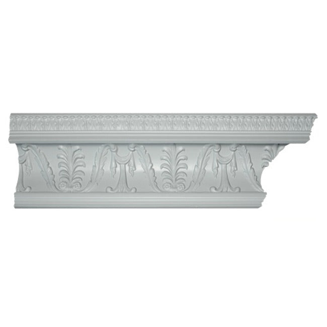 "6-3/4""(H) x 6""(Proj.) - Georgian Crown Molding Design - [Plaster Material] - Brockwell Incorporated"