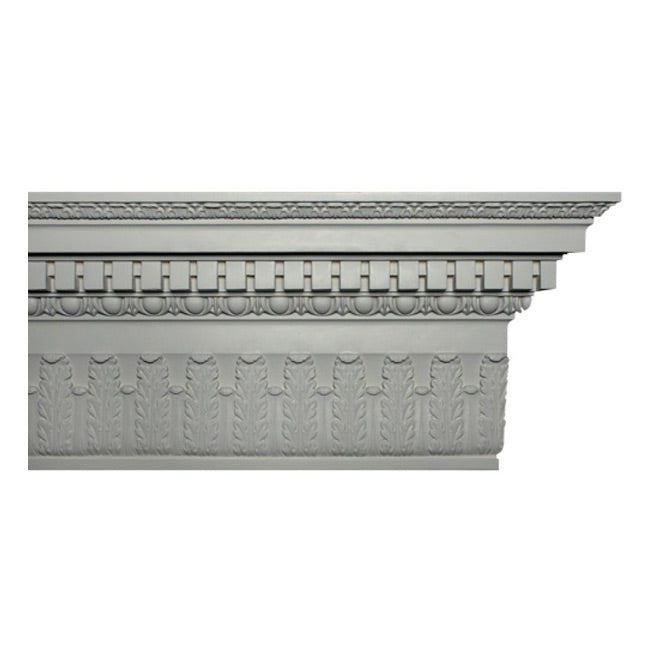 "14""(H) x 5-7/8""(Proj.) - Colonial Style Crown Molding Design - [Plaster Material] - Brockwell Incorporated"