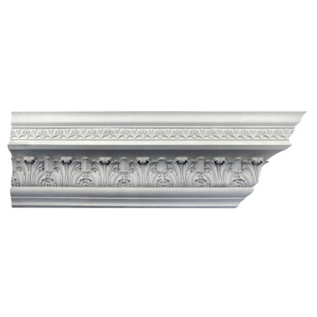 "6""(H) x 6-3/4""(Proj.) - Repeat: 3-3/8"" - Georgian Crown Molding Design - [Plaster Material] - Brockwell Incorporated"