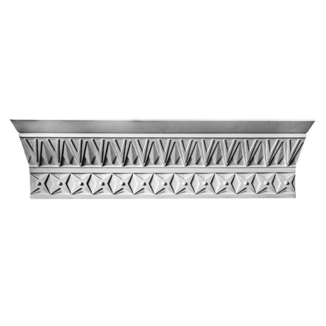 "9-1/4""(H) x 4-3/4""(Proj.) - Repeat: 2-1/2"" - Art Deco Crown Molding Design - [Plaster Material] - Brockwell Incorporated"