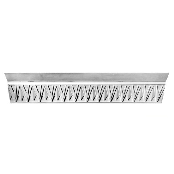 "5-1/2""(H) x 4-3/4""(Proj.) - Repeat: 2-1/2"" - Art Deco Crown Molding Design - [Plaster Material] - Brockwell Incorporated"