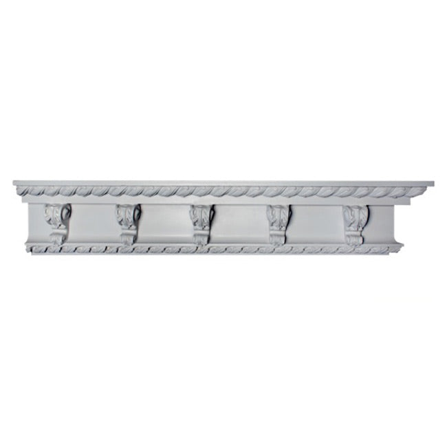 "6""(H) x 2-3/4""(Proj.) - Repeat: 6"" - Louis XV Style Crown Molding Design - [Plaster Material] - Brockwell Incorporated"