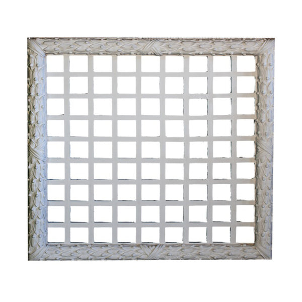 "30"" (W) x 30"" (H) x 1-1/4"" (Relief) - Classic Square Grille - (Open or Closed) - [Plaster Material]-Brockwell Incorporated"