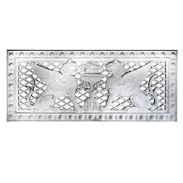 "60"" (W) x 25-1/2"" (H) x 7/8"" (Relief) - Empire Style Griffin Panel / Grille - (Open or Closed) - [Plaster Material]-Brockwell Incorporated"