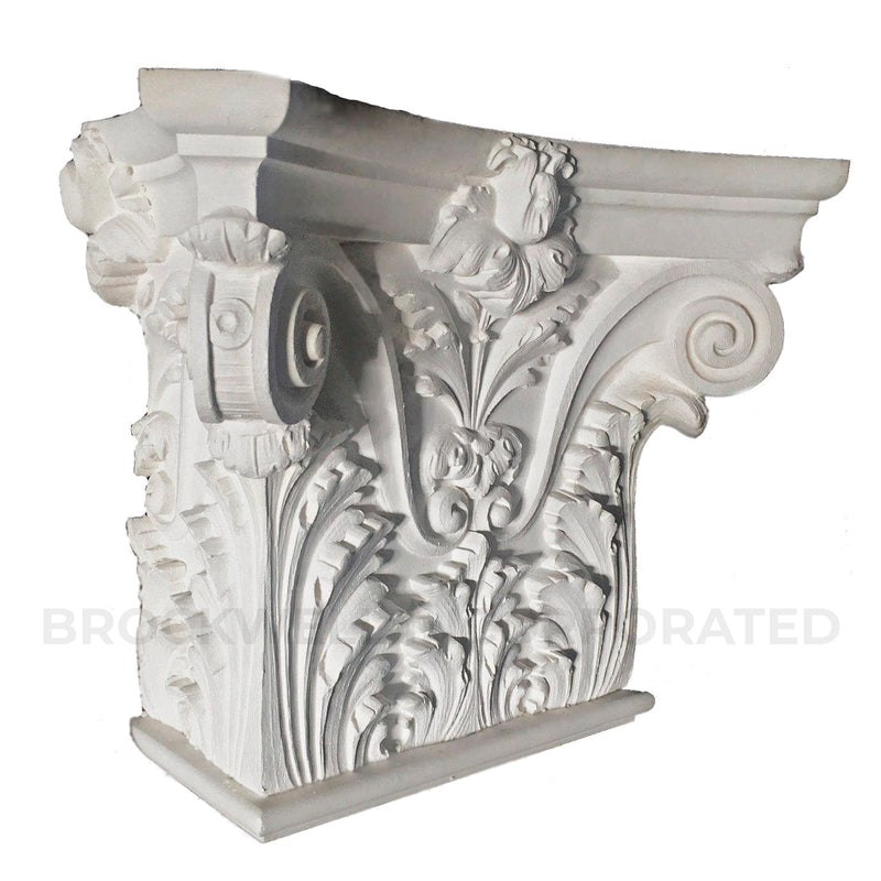 Italian Renaissance Venice plaster half square pilaster capital from Brockwell Incorporated
