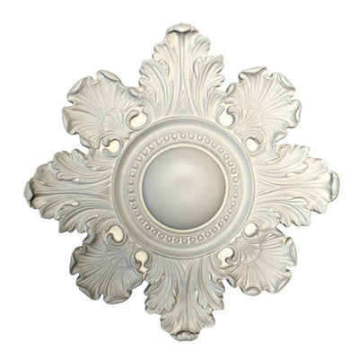 "18"" (Diam.) x 1-1/4"" (Relief) - Center: 5"" - Colonial Round Medallion - [Plaster Material] - Brockwell Incorporated"