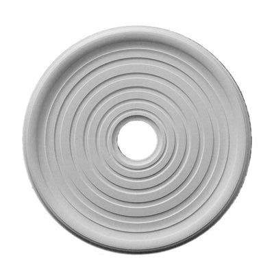 "23-5/16"" (Diam.) x 1-1/4"" (Relief) - Hole: 4"" - Smooth Round Medallion - [Plaster Material] - Brockwell Incorporated"