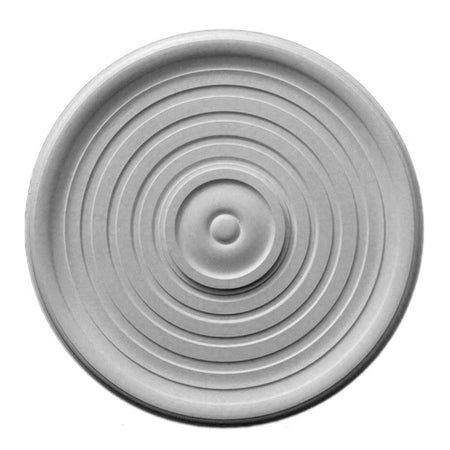 "23-5/16"" (Diam.) x 1-1/4"" (Relief) - Cover: 7"" - Smooth Round Medallion - [Plaster Material] - Brockwell Incorporated"
