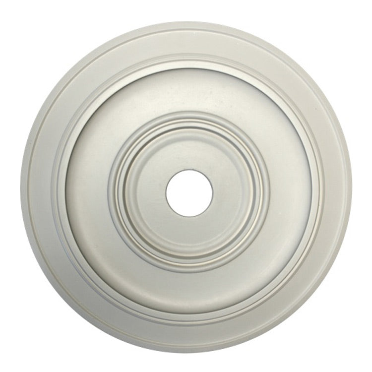 "17-1/4"" (Diam.) x 3/4"" (Relief) - Hole: 2-5/16"" - Smooth Round Medallion - [Plaster Material] - Brockwell Incorporated"