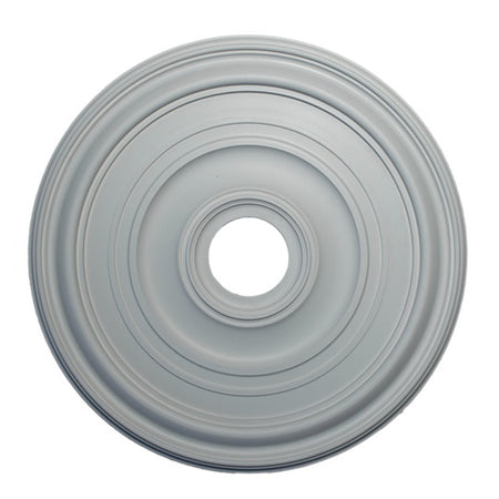 "23"" (Diam.) x 1-1/8"" (Relief) - Hole: 4"" - Smooth Round Medallion - [Plaster Material] - Brockwell Incorporated"