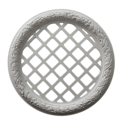 "17-1/2"" (Diam.) x 1-3/4"" (Relief) - Classic Style (Closed) Medallion - [Plaster Material] - Brockwell Incorporated"