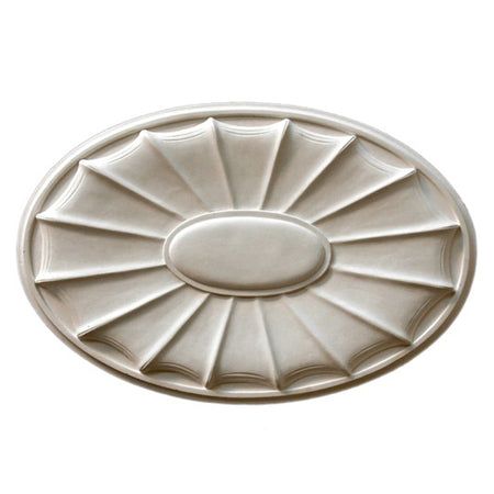 "22-1/2"" (W) x 15"" (H) x 1"" (Relief) - Adam's Style Oval Medallion - [Plaster Material] - Brockwell Incorporated"