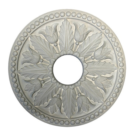 Medium Size Greek Leaf Style Medallion - [Plaster Material] - Brockwell Incorporated