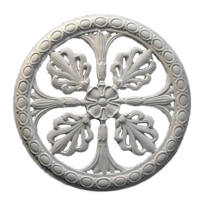 "21"" (Diam.) x 1-1/4"" (Relief) - Empire Style Medallion (Closed) - [Plaster Material] - Brockwell Incorporated"