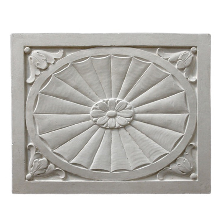 "15"" (W) x 18-1/2"" (H) x 5/8"" (Relief) - Adam Style Wall Panel - [Plaster Material] - Brockwell Incorporated"