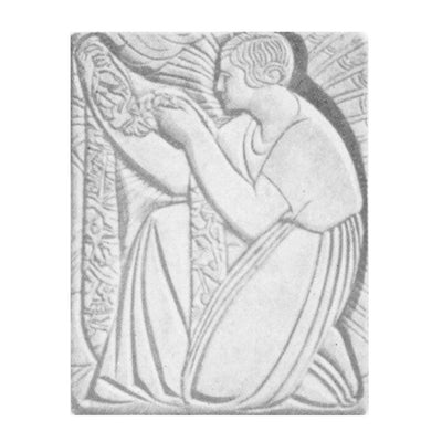 "20"" (W) x 24"" (H) x 3/4"" (Relief) - Art Deco Interior Wall Panel - [Plaster Material] - Brockwell Incorporated"