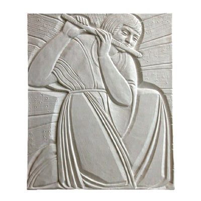 "20"" (W) x 24"" (H) x 3/4"" (Relief) - Art Deco Piper Wall Panel - [Plaster Material] - Brockwell Incorporated"