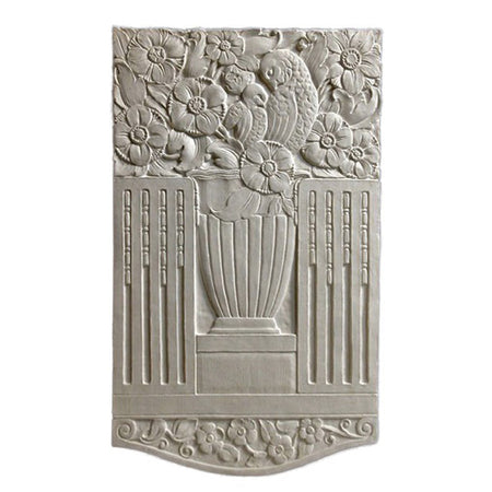 "18"" (W) x 30"" (H) x 3/4"" (Relief) - Art Deco Owl Wall Panel - [Plaster Material] - Brockwell Incorporated"