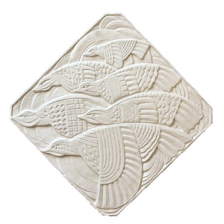 "18"" (W) x 18"" (H) x 1/2"" (Relief) - Diagonal: 23-1/2"" - Art Deco Paint-Grade Wall Plaque - [Plaster Material] - Brockwell Incorporated"
