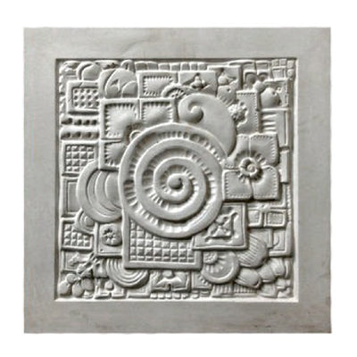 "16"" (W) x 16"" (H) x 1/2"" (Relief) - Art Deco Style Wall Panel - [Plaster Material] - Brockwell Incorporated"