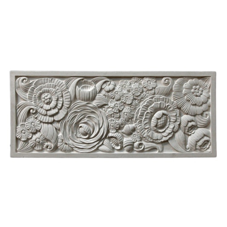 "24"" (W) x 10"" (H) x 1/2"" (Relief) - Art Nouveau Style Wall Panel - [Plaster Material] - Brockwell Incorporated"
