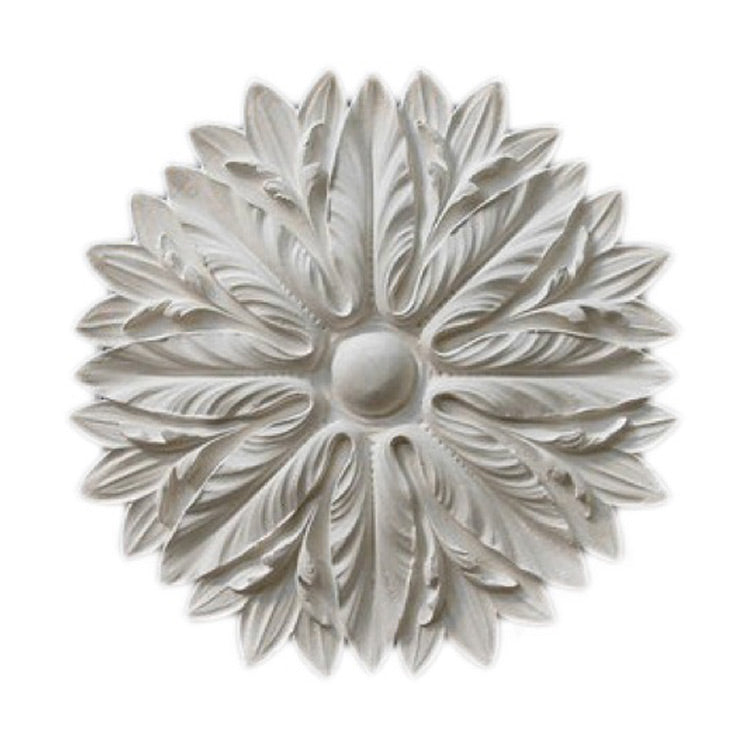 "18"" (Diam.) x 1-1/4"" (Relief) - Italian Style Floral Medallion - [Plaster Material] - Brockwell Incorporated"