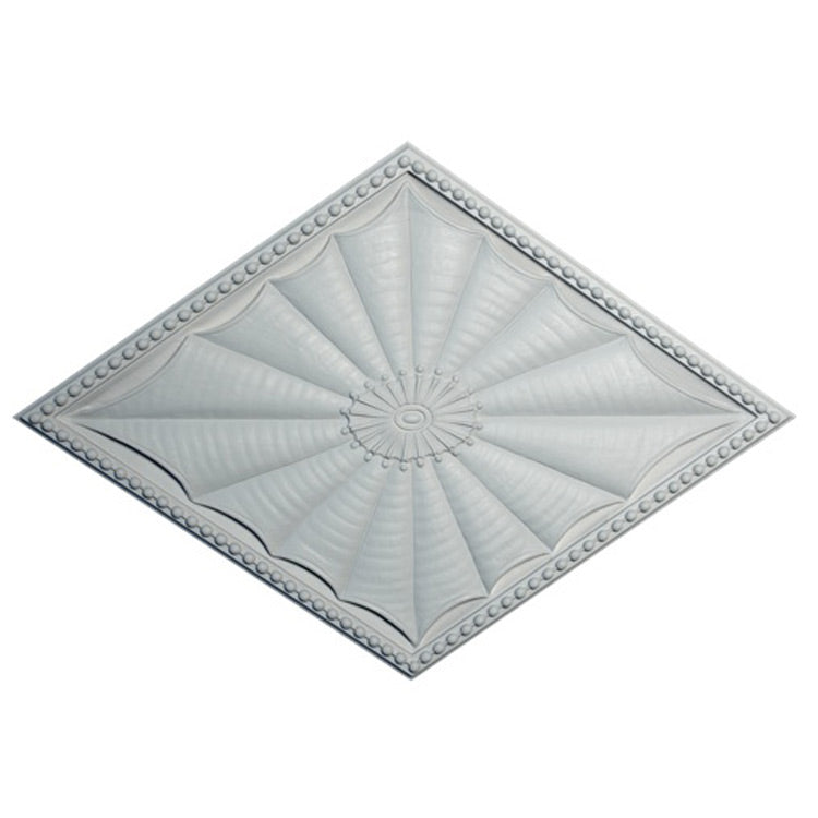 "18"" (W) x 26"" (H) x 7/8"" (Relief) - Colonial Style Diamond Medallion - [Plaster Material] - Brockwell Incorporated"