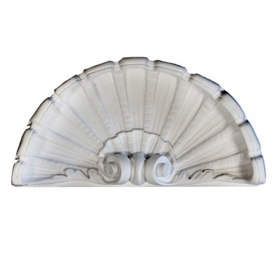 "Molded 17"" (W) x 8-5/8"" (H) x 3-3/4"" (Depth) - Shell Niche Cap - [Plaster Material] - Brockwell Incorporated - 980-282-8383"