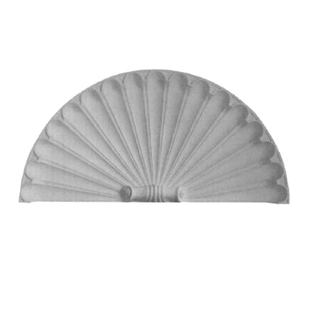 "Molded 60"" (W) x 30"" (H) x 2-3/4"" (Relief) - Classic Shell Niche Cap - [Plaster Material] - Brockwell Incorporated - 980-282-8383"