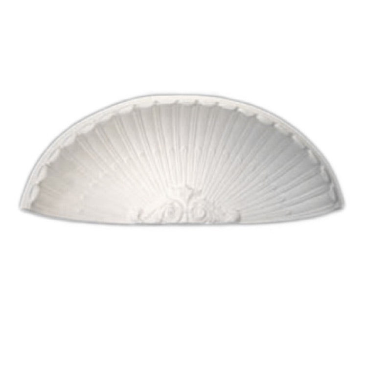 "Molded 37-1/8"" (W) x 22-1/2"" (H) x 10-3/8"" (Depth) - Niche Cap - French Renaissance Style - [Plaster Material] - Brockwell Incorporated - 980-282-8383"
