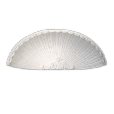 "Molded 19-7/8"" (W) x 9-7/8"" (H) x 6-1/2"" (Depth) - Niche Cap - French Renaissance Style - [Plaster Material] - Brockwell Incorporated - 980-282-8383"