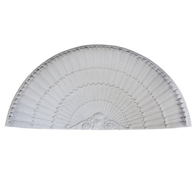 "Molded 34"" (W) x 13-7/8"" (H) x 14-1/4"" (Depth) - Shell Niche Cap - French Renaissance Style - [Plaster Material] - Brockwell Incorporated - 980-282-8383"