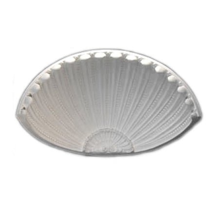 "Molded 23-7/8"" (W) x 11-3/4"" (H) x 11-1/16"" (Depth) - French Renaissance Shell Niche Cap - [Plaster Material] - Brockwell Incorporated - 980-282-8383"