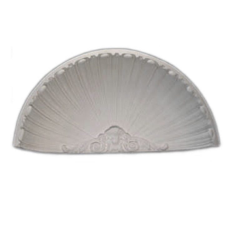 "Molded 22-3/16"" (W) x 11"" (H) x 5-1/4"" (Depth) - French Renaissance Style Niche Cap - [Plaster Material] - Brockwell Incorporated - 980-282-8383"