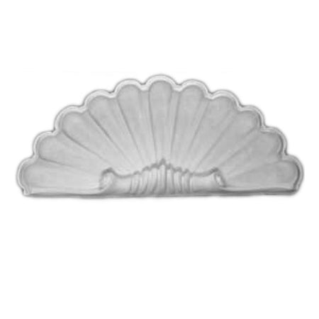 "Molded 20"" (W) x 8-1/2"" (H) x 2-1/2"" (Depth) - Shell Niche Cap - [Plaster Material] - Brockwell Incorporated - 980-282-8383"
