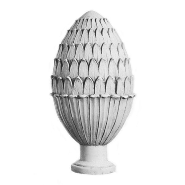 Plaster Finial Pineapple Designs for Interior Installation - Brockwell Incorporated - Item # FNL-06172-PL-2