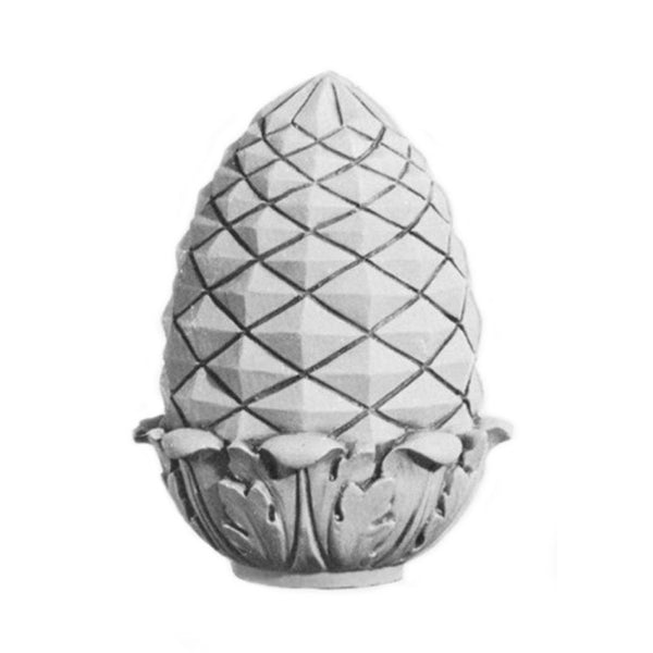 Plaster Finial Pineapple Designs for Interior Installation - Brockwell Incorporated - Item # FNL-16172-PL-2