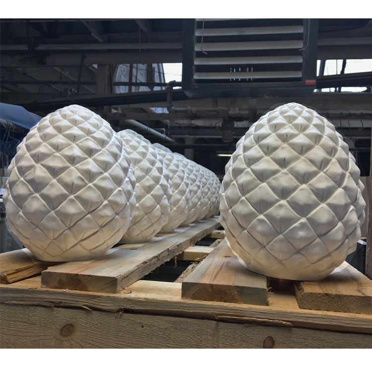 Custom Plaster Pineapple Finials - Brockwell Incorporated
