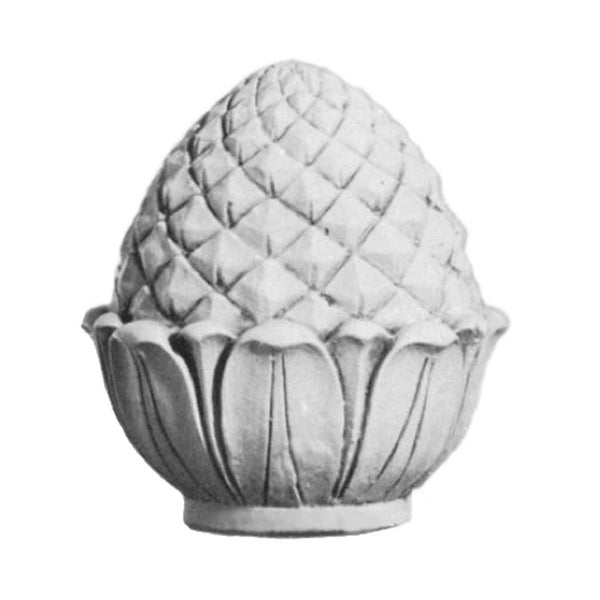 Plaster Finial Pineapple Designs for Interior Installation - Brockwell Incorporated - Item # FNL-36172-PL-2