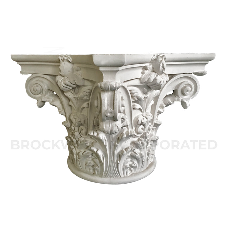 Plaster Round Column Capital - Italian Renaissance Venice Design - Brockwell Incorporated