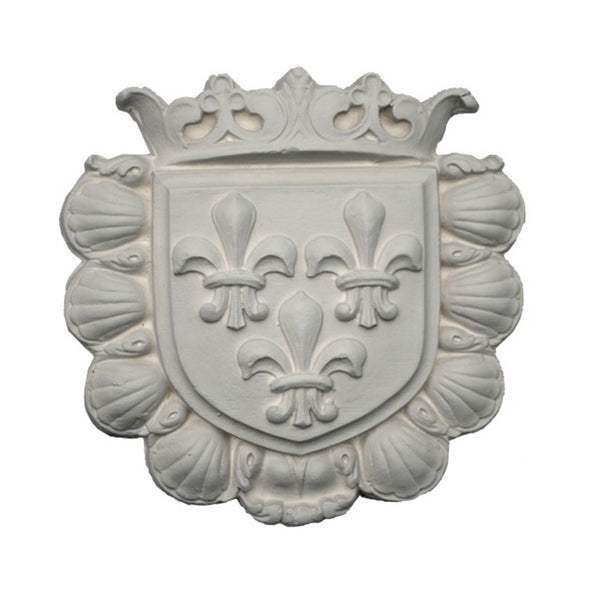 Purchase Decorative Plaster Shield Accents - Item # SHD-0553-PL-2 from Brockwell Incorporated