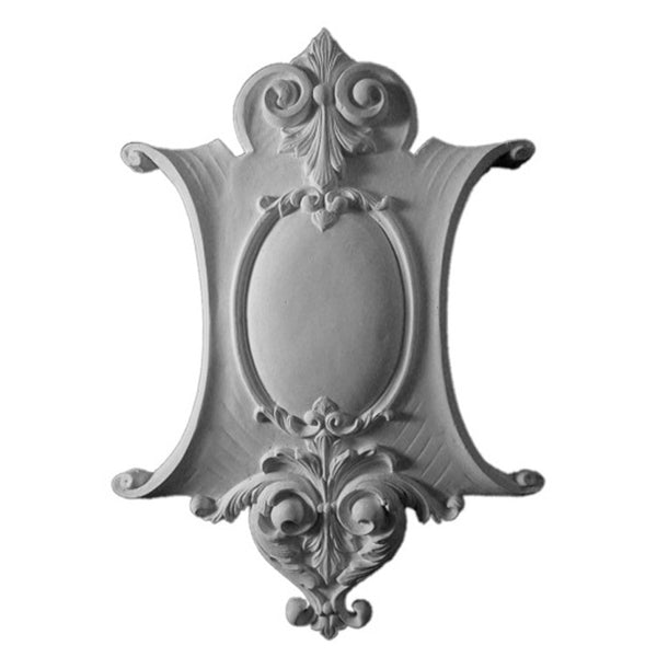 Purchase Decorative Plaster Shield Accents - Item # SHD-79072-PL-2 from Brockwell Incorporated